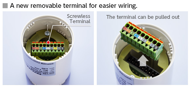 A new removable terminal for easier wiring